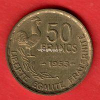 Франция 50 франков 1953 год