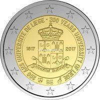 Бельгия 2 евро 2017 года. 200 лет основания Льежского университета