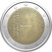 Финляндия 2 евро 2017 года. 100 лет независимости.