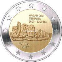 Мальта 2 евро 2017 года  Хаджар-Ким.