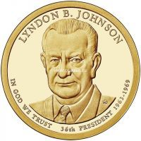 США  доллар 2015 года 36 президент Линдон Джонсон (Lyndon B. Johnson)