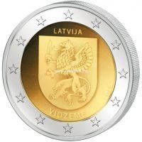2016 год. Латвия. Монета 2 евро. Историческая область Видземе.