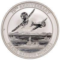 2016 год. Тувалу монета 1 доллар. Перл Харбор. Unc (Серебро)