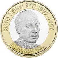 2017 год. Финляндия монета 5 евро. Ристо Хейкки Рюти. UNC