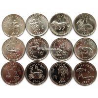 """Сомалиленд. Набор монет """"Знаки зодиака 2006"""" (12 шт.), UNC"""