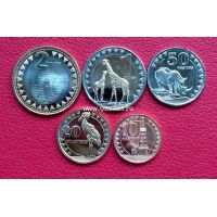 2015 год. Набор монет. Южный Судан. 5 шт