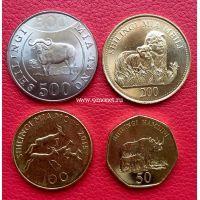 Танзания набор 4 монеты 2014-2015