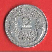 Франция монета 2 франка 1947 года.
