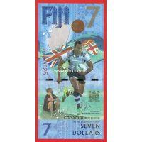 2017 год. Фиджи банкнота 7 долларов. Регби.