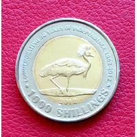 2012 год. Уганда монета 1000 шиллингов. 50 лет Независимости.