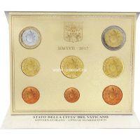 2017 год. Ватикан годовой набор 8 монет. Новый тип