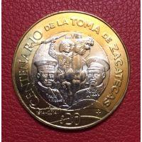 2014 год. Мексика монета 20 песо. 100 лет Восстанию. UNC