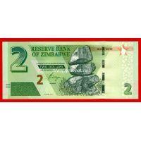 2016 год. Зимбабве банкнота 2 доллара