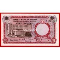 1967 год. Нигерия банкнота 1 фунт. UNC