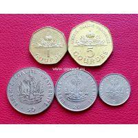1995-2011 год. Гавайи набор 5 монет.