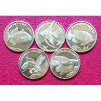 2016 год. Малуку 5 рупий. набор 5 монет Рыбки