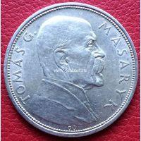 Монета Чехословакии 10 крон 1928 года