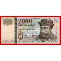2013 год. Венгрия банкнота 2000 форинтов. UNC
