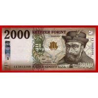 2016 год. Венгрия банкнота 2000 форинтов. UNC