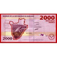 Бурунди банкнота 2000 франков 2015 года