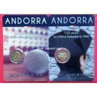 2016 год. Андорра монеты 2 евро