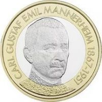 2017 год. Финляндия 5 евро Карл Густав Эмиль Маннергейм
