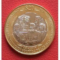 2017 год. Мексика монета 20 песо. 100-лет Конституции. UNC
