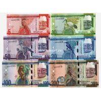 Гамбия набор 6 банкнот 2015 года.