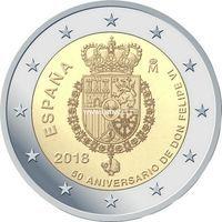 Испания монета 2 евро 2018 Филипп VI.