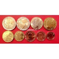 Люксембург годовой набор 2018 года 9 монет с 2 евро 175 лет со дня смерти Великого герцога Гийома I