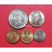 Мексика набор 5 монет 1967-1979 года.