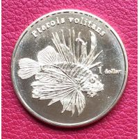 Мурева остров 1 доллар 2018 года Рыба.