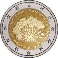 Португалия 2 евро 2018 Ботанический сад Ажуда в Лиссабоне.