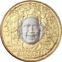 Сан-Марино монета 5 евро 2017 года Марко Симончелли.