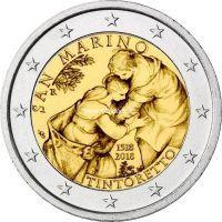 Сан-Марино 2 евро 2018 года 500 лет со дня рождения художника Тинторетто.