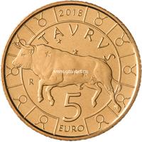 Сан-Марино 5 евро 2018 года Телец.