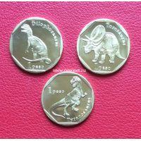 Синт-Мартен набор 3 монеты 1 песо 2018 Динозавры.