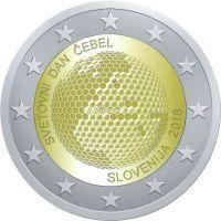 Словения 2 евро 2018 года Всемирный день пчелы