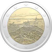 Финляндия 2 евро 2018 года Пейзаж Коли.