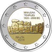 Мальта 2 евро 2018 года Мнайдра.