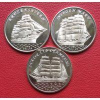 Острова Гилберта 1 доллар 2018 года корабли набор 3 монеты.