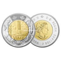 Канада 2 доллара 2017 года Битва при Вими-Ридже