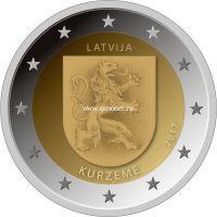 Латвия 2 евро 2017 года Курземе