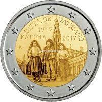 Ватикан 2 евро 2017 года 100 лет явления Девы Марии в Фатиме.
