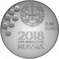 Португалия 2.5 евро 2018 года Чемпионат мира по футболу в России 2018.