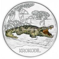 Монета Австрии 3 евро 2017 года Крокодил