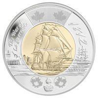 Канада 2 доллара 2012 года. Фрегат Шеннон.