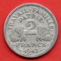 Франция 2 франка 1943 года.