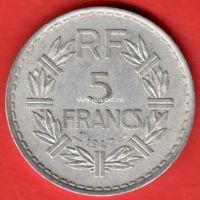 Франция 5 франков 1947 года.