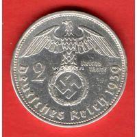 Германия 2 рейхсмарки 1939 года. III Рейх.